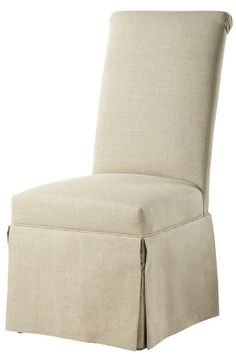 Custom Rolled-Back Parsons Chair with Skirt - Dining Chairs - Kitchen And Dining Room Furniture - Furniture   HomeDecorators.com