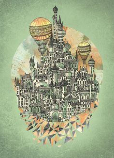 Emerald City by David Fleck #illustration #graphic #design