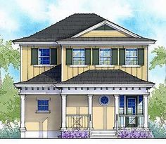 Net Zero Ready 3 Bed Cottage House Plan - 33156ZR | Beach, Cottage, Country, Southern, Vacation, Exclusive, Narrow Lot, Net Zero Ready, 2nd Floor Master Suite, CAD Available, PDF | Architectural Designs