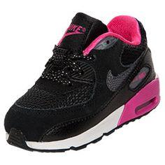 Girls' Toddler Nike Air Max 90 Running Shoes | FinishLine.com | Black/
