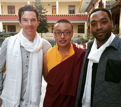 Benedict & Chiwetel Ejiofor at The Shechen Monastery Nepal - 8th November 2015