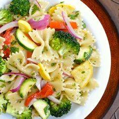 Vegetable Pasta Salad - I steamed the veggies first.  So good.