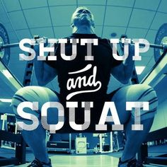 Shut Up and Squat! Start the Skinny Muscles Squat Challenge and feel the benefits of squatting. Lifting Motivation, Fitness Motivation Quotes, Squat Motivation, Friday Workout, Gym Memes, Gym Training, Gym Rat, Shut Up, Powerlifting