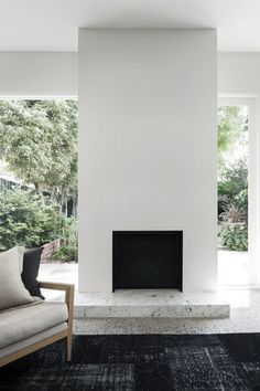 simple fireplace