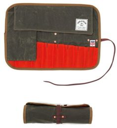 Waxed Canvas Tool Roll, Made in USA