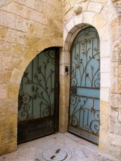 Jerusalem Door...we are brothers coming into the world from different doors, but we are both coming through the portal of love and being.