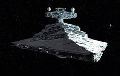 """Imperial Star Destroyer from the original Star Wars Trilogy; so iconic that it was the subject of a sight gag in an episode of The X-Files (""""Jose Chung's 'From Outer Space'"""")."""