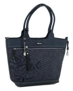 Henkeltasche kimmidoll blau Blätter Stickerei Anhänger Emblem - Bags & more Emblem, Style, Fashion, Embroidery, Blue, Bags, Swag, Moda, Fashion Styles