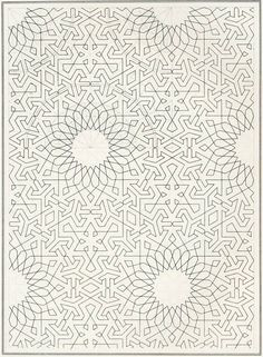 Islamic geometric sketch