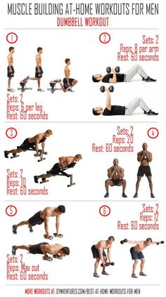 Best At-Home Workouts for Men [with Infographics]