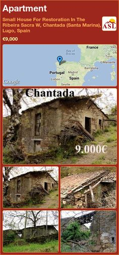 Apartment in Small House For Restoration In The Ribeira Sacra W, Chantada (Santa Marina), Lugo, Spain ►€9,000 #PropertyForSaleInSpain