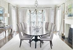 monochromatic dining room interior design