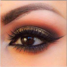 Gorgeous Brown Smokey Eye Smokey Eye For Brown Eyes, Brown Eyeshadow, Eyeshadow Looks, Beautiful Eye Makeup, Beautiful Eyes, Makeup Geek, Makeup Tips, Kiss Makeup, Hair Makeup