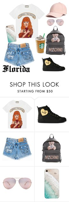 """My style!"" by floridanuha ❤ liked on Polyvore featuring Gucci, Love Moschino, Moschino and Gray Malin"