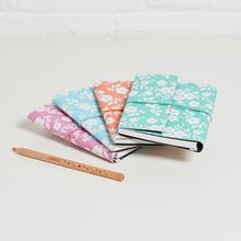Our beautiful and practical notebooks are made from recycled materials. Finished with a textured look (a bit like leather) they are eco and animal friendly. All of our beautiful rich prints and patterns are hand-screen printed using eco-friendly dyes. Home Office Accessories, Office Stationery, Ditsy Floral, Small Storage, Recycled Materials, Notebooks, Journals, Print Patterns, Screen Printing