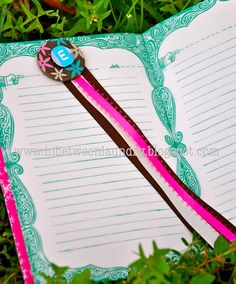 Monogram Ribbon Bookmark - reading volunteer gift?