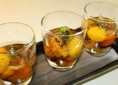 Now an exotic meal is the sea urchin The sea urchin and the fish roe and a quail egg all arranged in a shot glass A video without audio but still clear in...