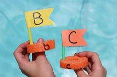 The Educators' Spin On It: Pool Noodle Alphabet Boat Matching Game Pool Noodle Games, Pool Games, Pool Noodles, A Classroom, Learning Games, Matching Games, Cool Pools, Literacy Centers, Preschool Activities