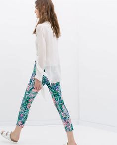 Image 5 of PRINTED TROUSERS WITH SIDE ZIP from Zara