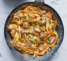 Make our budget-friendly quick sausage stroganoff tagliatelle for a simple family dinner. This filling bowl takes just five minutes to prepare dinner food Speedy sausage stroganoff tagliatelle Budget Family Meals, Easy Family Dinners, Food Budget, Bbc Good Food Recipes, Dinner Recipes, Cooking Recipes, Dinner Ideas, Veg Recipes, Simple Recipes