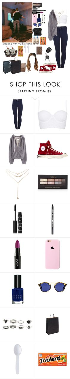 """Untitled #496"" by manuuhwang ❤ liked on Polyvore featuring Pieces, Topshop, Converse, Forever 21, NARS Cosmetics, Bare Escentuals, Bobbi Brown Cosmetics and Louis Vuitton"