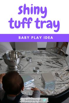 The shiny tuff tray is a great baby play activity for infants, and toddlers. Sensory activities like these will help your babies development and keep them busy. Activities For 1 Year Olds, Eyfs Activities, Nursery Activities, Fun Activities For Toddlers, Creative Activities, Infant Activities, Family Activities, Baby Sensory Play, Baby Play
