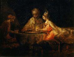 Артаксеркс, Аман и Эсфирь. Харменс ван Рейн Рембрандт