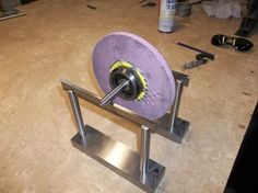 """Balancing Arbor by rossbotics -- I made this arbor for balancing the grinding wheels that fit my surface grinder. I put on a new wheel and discovered I had quiet a bit of vibration like I had not before, I checked the bearings, spindle run out ETC.  I didn't want to toss the wheel so I made a balancing arbor for the grinder.   The arbor was made from 1"""" O.D. 4140 preheat treated steel. Both ends of the arbor was machined in one setting, Meaning the arbor was not machined on one end then..."""