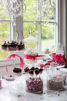 Pink Candy Buffet <3<3 add #diy www.customweddingprintables.com