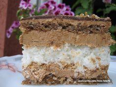 "Kad probate ovu tortu,ukus vas vodi na ""sedmo nebo"". Torte Recepti, Kolaci I Torte, Baking Recipes, Cookie Recipes, Dessert Recipes, Torta Recipe, Torte Cake, Just Cakes, Homemade Chocolate"