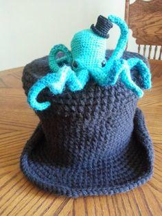 Octopus hat and mini top hat https://www.youtube.com/watch?v=22APrckokHQ