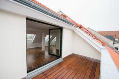 Attic Master Bedroom, Attic Bedroom Designs, Loft Conversion Balcony, Casa Clean, House Extension Design, Barn Renovation, Attic House, Living Roofs, Home Building Design