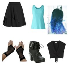 """""""something I'd wear to a concert """" by malloriemooney on Polyvore featuring Alice + Olivia, Alexander McQueen and Lands' End"""