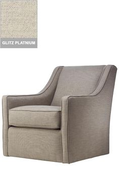 Aiden Upholstered Swivel Armchair, Polyester Wrapped Cushions ...