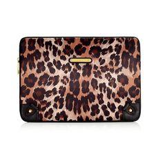 Juicy Couture Leopard print laptop case