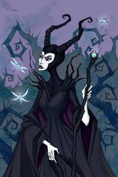(Music: Siouxsie and the Banshees – Obsession) Art prints, T-shirts and other stuff available on ink fineliner, watercolor . Dark Fantasy, Fantasy Art, Maleficent Art, Malificent, Abigail Larson, Fairytale Art, Animation, Creepy Art, Gothic Art