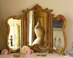 ❥ Vintage mirror and mannequin by Corset Laced Mannequins, via Flickr