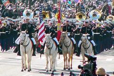 The Marine Corps Mounted Color Guard is the only remaining mounted color guard in the Marine Corps today.  The horses continue to be ambassadors for the Wild Mustangs that remain a link to the history of America.