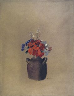 Flowers in a Vase 1909. Odilon Redon (1840-1916)