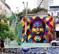 by Eduardo Kobra in São Paulo, 1/16 (LP)