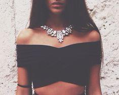 #summer #fashion / black crop top
