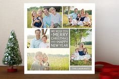 Family Framed Christmas Photo Cards by Jill Means | Minted