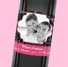 Etiquette de bouteille mariage personnalisée pour surprendre vos invités, réf.N300546