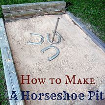 Building your own horseshoe pit is easier than you may think. I used l… :: Hometalk
