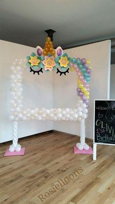 New Baby Girl Shower Balloons Birthdays Ideas Party Unicorn, Unicorn Baby Shower, Unicorn Birthday Parties, First Birthday Parties, First Birthdays, Unicorn Balloon, Girl Shower, 5th Birthday, Balloon Decorations