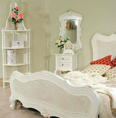 white cane bedroom furniture - interior bedroom paint ideas