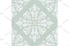 Floral vector oriental blue and white pattern with damask, arabesque and floral elements. Seamless abstract wallpaper and background Damask Patterns, White Patterns, Arabic Design, Arabesque, Vector Pattern, Abstract Backgrounds, Oriental, Blue And White, Tapestry