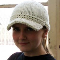 Ravelry: Fossil-Inspired Bulky Knit Cap pattern by Kayla Pins Loom Knitting, Knitting Patterns Free, Knit Patterns, Free Knitting, Free Pattern, Knit Hat With Brim, Knitted Hats, Brim Hat, Knit Or Crochet