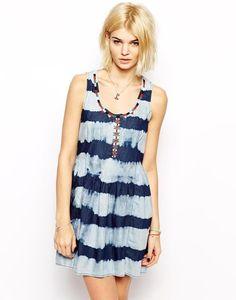 Mango Denim Striped Dress http://picvpic.com/women-dresses-day-dresses/mango-denim-striped-dress?ref=QA8LwA