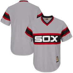 bb55586c533 Chicago White Sox Majestic Big   Tall Cooperstown Collection Cool Base  Replica Team Jersey - Gray